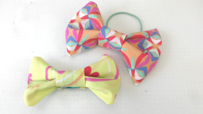 Schleife aus Stoff für ein Haarband, Haargummi, als Brosche. süße Schleife als Accessoir