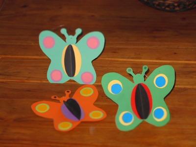 Schmetterlinge selber basteln, Deko für Kinder