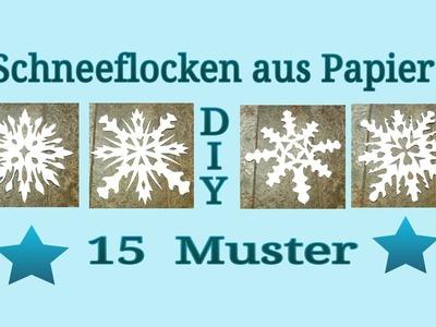 Schneeflocken aus Papier schneiden