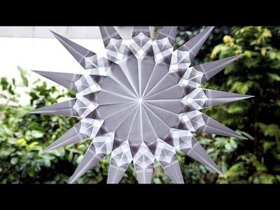 Schöne Stern Fenster Deko selber machen
