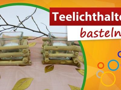 Teelichthalter Holz basteln | trendmarkt24 - Do it yourself Bastelideen