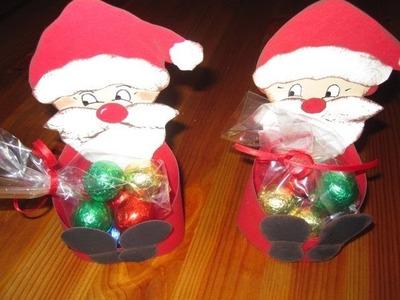 WEIHNACHTSBASTELN: Nikolaus Schachtel basteln - Bastelideen Weihnachten