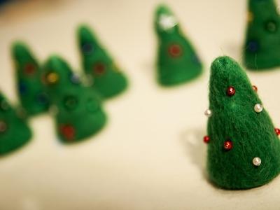Weihnachtsbaum filzen - Deko im Advent