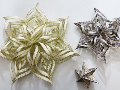 Weihnachtsdeko * 3D Weihnachtssterne basteln