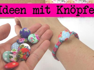 4 DIY Ideen mit Knöpfen. kreative Bastelideen für Knöpfe zum selber machen. Anleitung deutsch