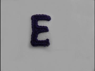 ABC Häkel-Buchstaben E