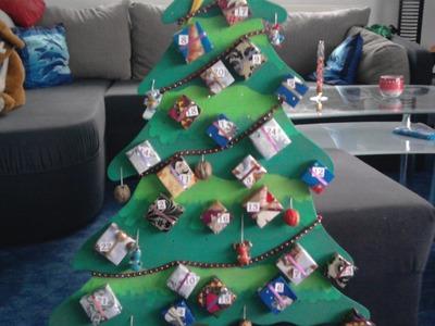 """Bastelidee   Adventskalender """"Weihnachtsbaum"""""""