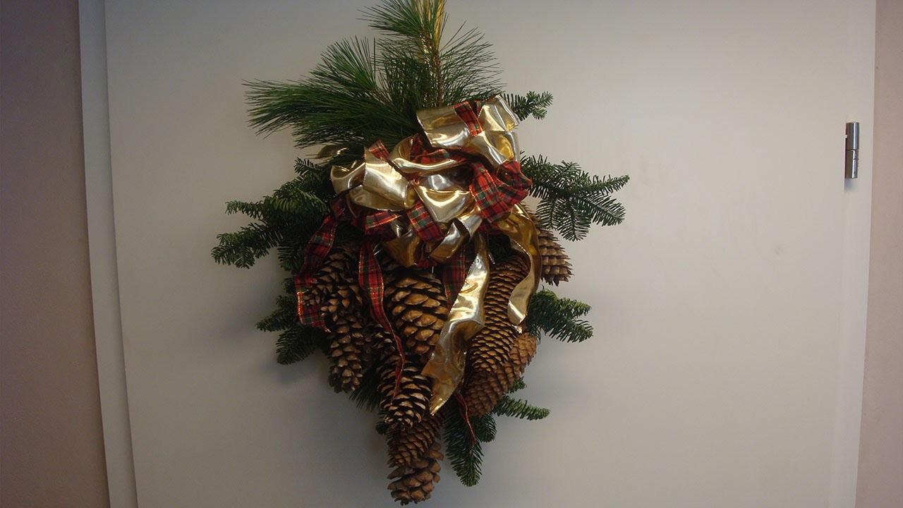Bastelideen für Weihnachten – Türschmuck selber machen