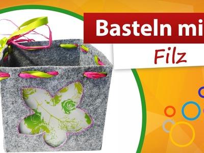 Basteln mit Filz | Tischdekoration basteln - trendmarkt24 Bastelideen