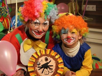 Basteln mit Kindern - Fasching Masken Teil 01 - der Löwe aus Pappteller