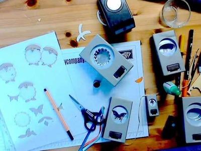 Basteln mit Papier und Stempeln, nach einem Workshop