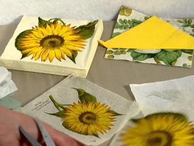 Blumen aus Seidenpapier basteln