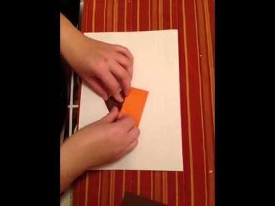 Buchstaben E aus Papier basteln