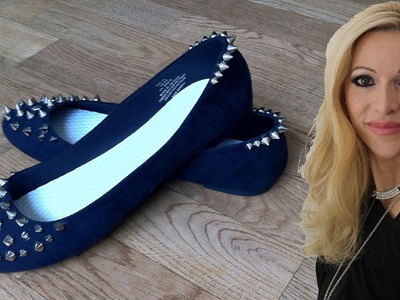 DIY Ballerinas mit Nieten selber basteln - DIY 2014 #1