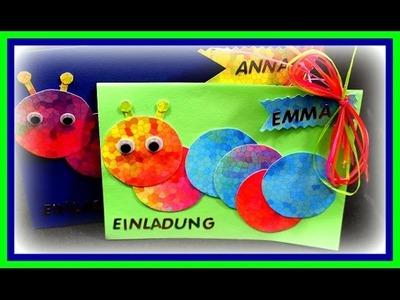 Einladungskarten für Kindergeburtstag basteln - DIY Bastelideen