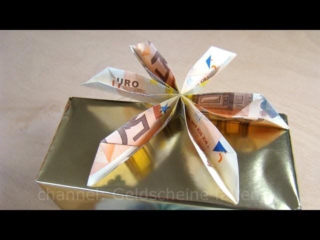 Geldschein falten Blume - Geldgeschenke basteln