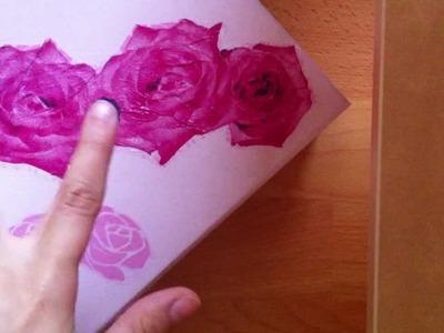 Geschenk Kiste verschönern - Bastel Anleitung