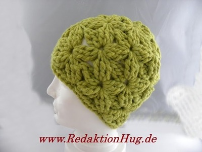 Häkeln - Mütze im Blütenmuster - Veronika Hug