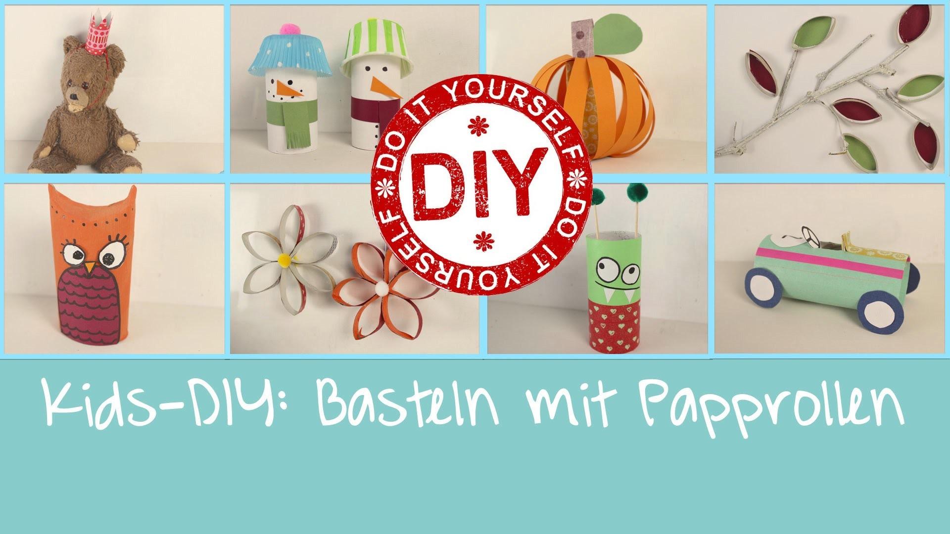 Kids-DIY: Basteln mit Papprollen (8 Projekte) ★ Deko Inspirationen Selbstgemacht