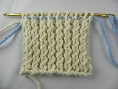 Knooking - Rippenmuster 1 - 1, verschränkt - hatnut Wolle von Pro Lana