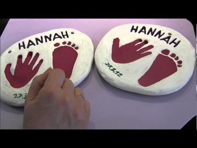 Last Minute Geschenk: Salzteig Hand- und Fußabdruck