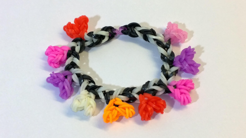 Loom Bands Easy Rainbow Loom Heart Bracelet With Hook No Loom-DIY