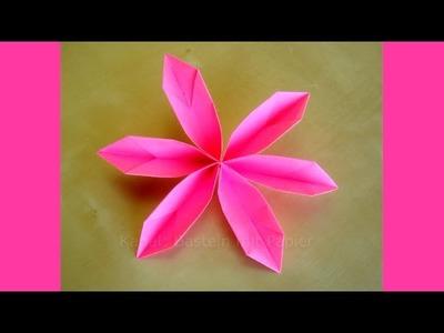 Origami Blumen basteln mit Papier - Leichte DIY Bastelideen - Blüten falten