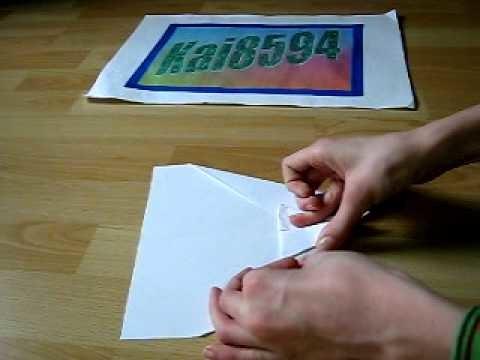 Origami Papierflieger Moskito