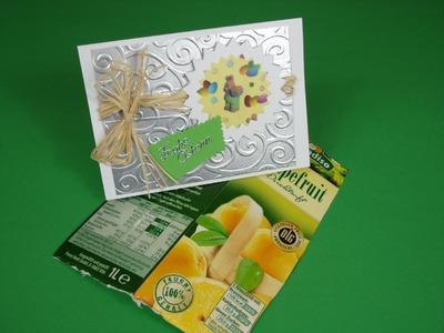 Osterkarte mit Recycling - Material basteln DIY - 2014 card #7
