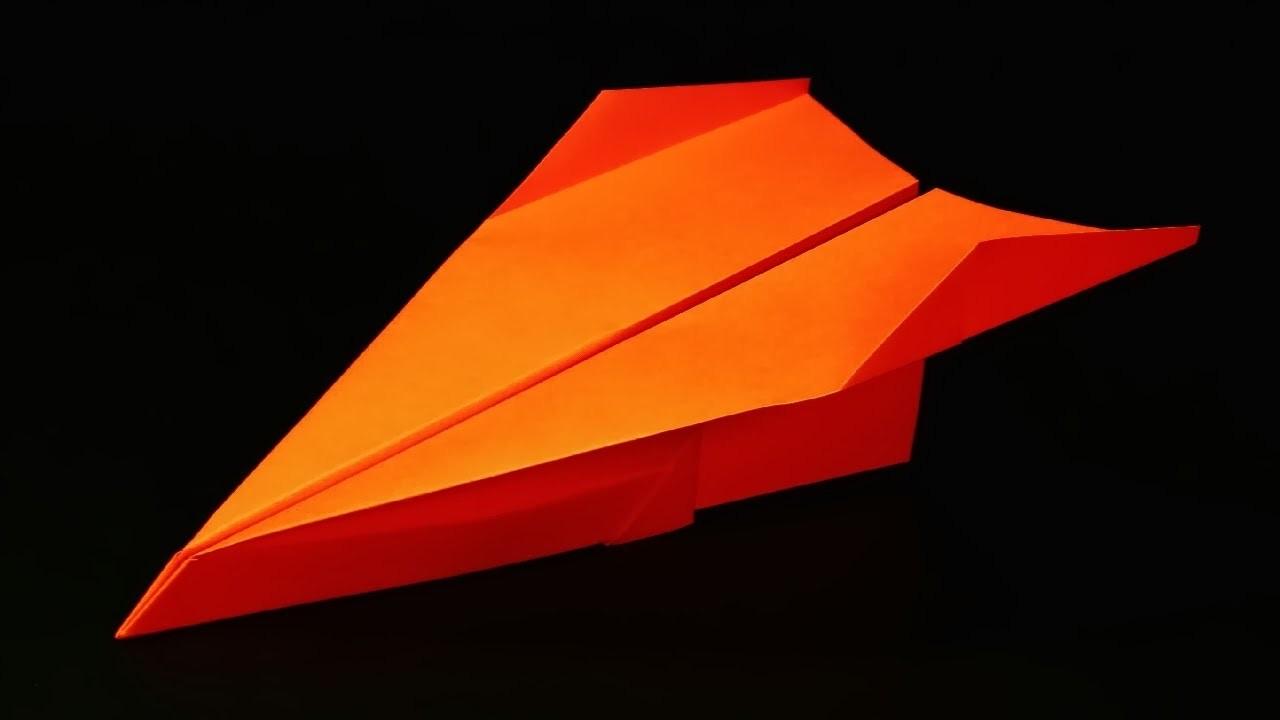 Papierflieger falten - Basteln - Papier falten - Beste Papierflieger der Welt - Rekord | Tresh