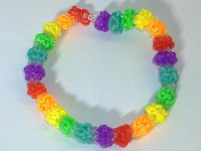 Rainbow Loom Gumdrop Bracelet -Loom Bands Bubble Gum Drops Bracelet With Two Forks. DIY