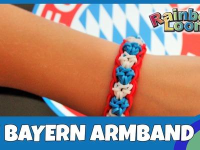 Rainbow Loom Mannschafts - Armband FC Bayern München - deutsche Anleitung