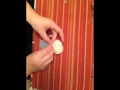 Raupe aus Wolle basteln