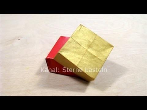 Schachtel falten -  z.B. als Geschenkverpackung für Weihnachten