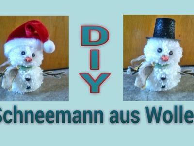 Schneemann aus Wolle. Anleitung