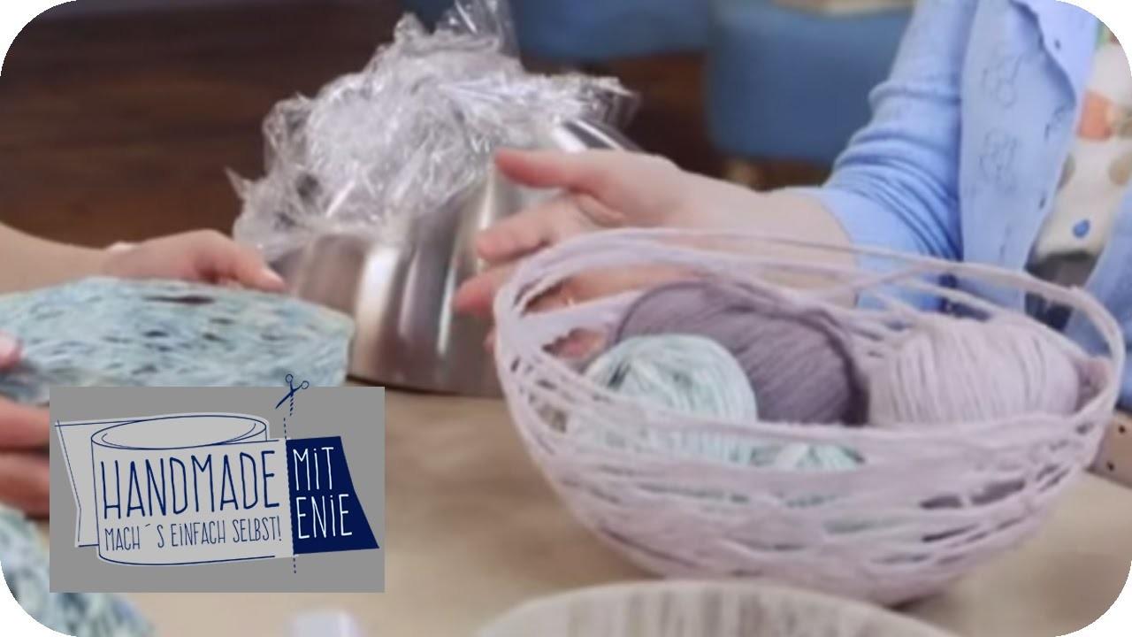 Schüssel aus Wolle   Handmade mit Enie - Mach's einfach selbst   taff
