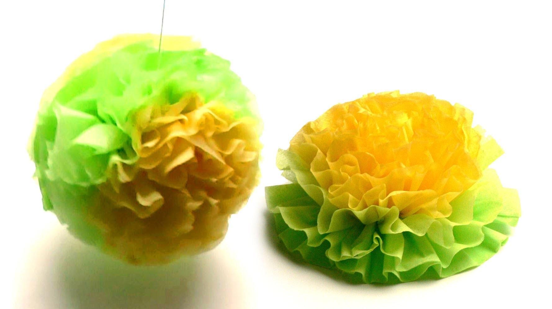 Serviettenblume falten (napkin-flower)