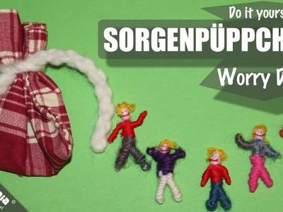 Sorgenpüppchen. Worry Dolls. Sorgenpuppen selber machen.