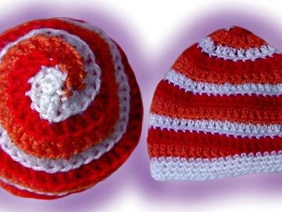 Spiral-Mütze häkeln lernen