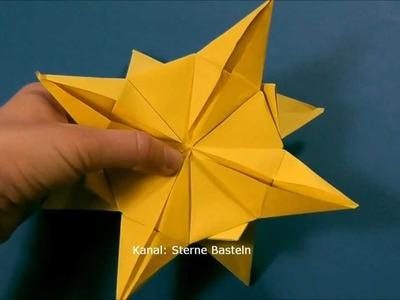 Sterne basteln - Weihnachtssterne basteln aus Papier