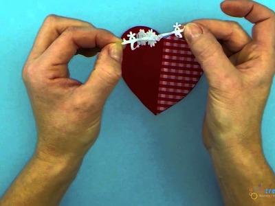Valentinstag Geschenk basteln - Tolles Herz aus Stoff