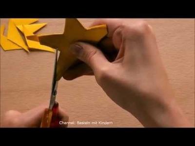 Weihnachtsbasteln: Sternen-Kette basteln für Weihnachten