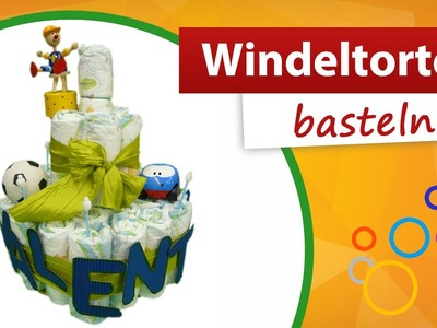 Windeltorte basteln - | Do it yourself - trendmarkt24 Babygeschenk