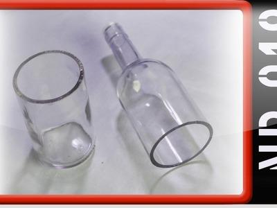 Windlicht aus einer Flasche basteln Teil1