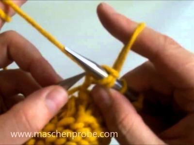 Basic: Schlaufenmuster oder Schlingenmuster stricken