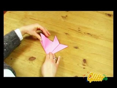 Blumen Basteln - Einfache Falttechnik: Origami