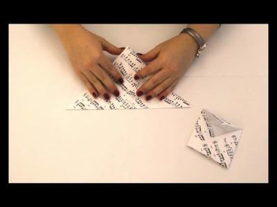 Briefumschlag falten #3 - Motiv Notenblatt