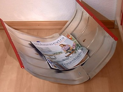 Deko Tipps: Zeitungsablage und Garderobe basteln