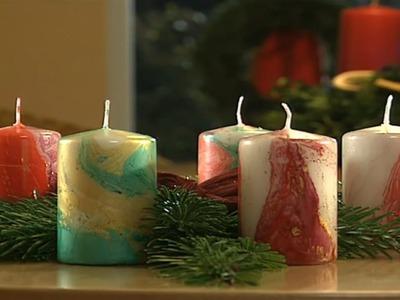 Dekotipp für Weihnachten: Kerzen gießen und Weihnachtsschmuck basteln