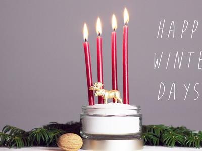 DIY | Adventskranz Idee | Weihnachtsdeko selber machen | Dekoration | Basteln | chestnut!